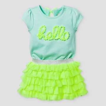 9c15533c3fb4 Baby Girls  Bodysuit and Ruffle Tutu Set Cat   Jack™ - Yellow ...