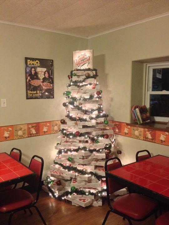 Pizza Box Christmas Tree Diy Holiday Christmas Decorations Christmas Tree