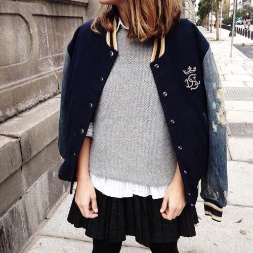 Back to school with @diesel varsity jacket