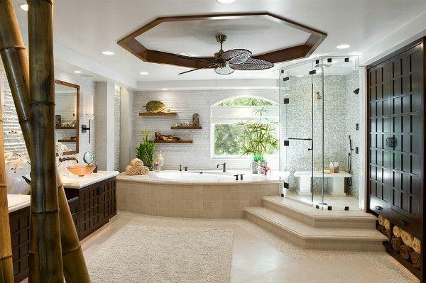 asiatische badeinrichtung badgestaltung ideen modernes badezimmer - badezimmer design badgestaltung