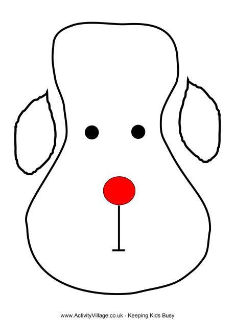 Reindeer face template 2nd grade christmas party Pinterest