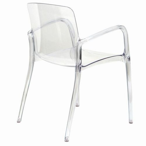 see through it | dark wood, clear chairs and ghost chairs