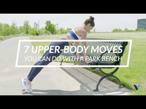 7 upperbody moves you can do with a park bench