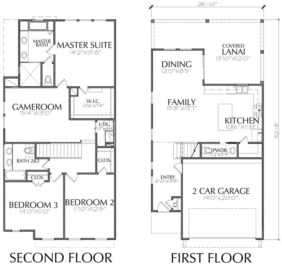 Buy Townhouse Plans Online Cool Townhome Designs Brownstone Homes Preston Wood Associates House Floor Plans Pool House Designs Townhouse