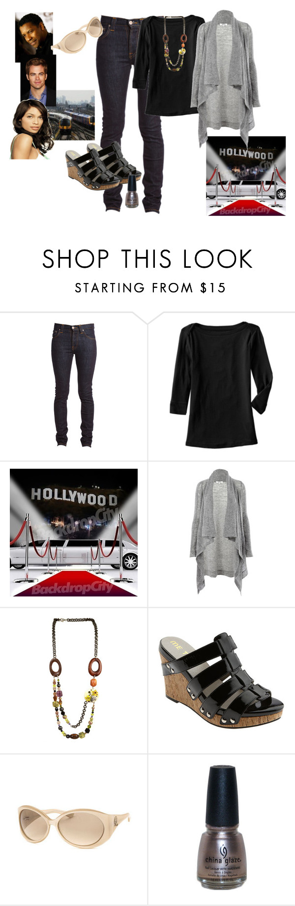 """""Unstoppable"" premiere"" by helenadelaide ❤ liked on Polyvore featuring Nudie Jeans Co., Old Navy, Helmut Lang, Tarina Tarantino, LIST, Local Celebrity, Me Too, Alexander McQueen, Glaze and skinny jeans"