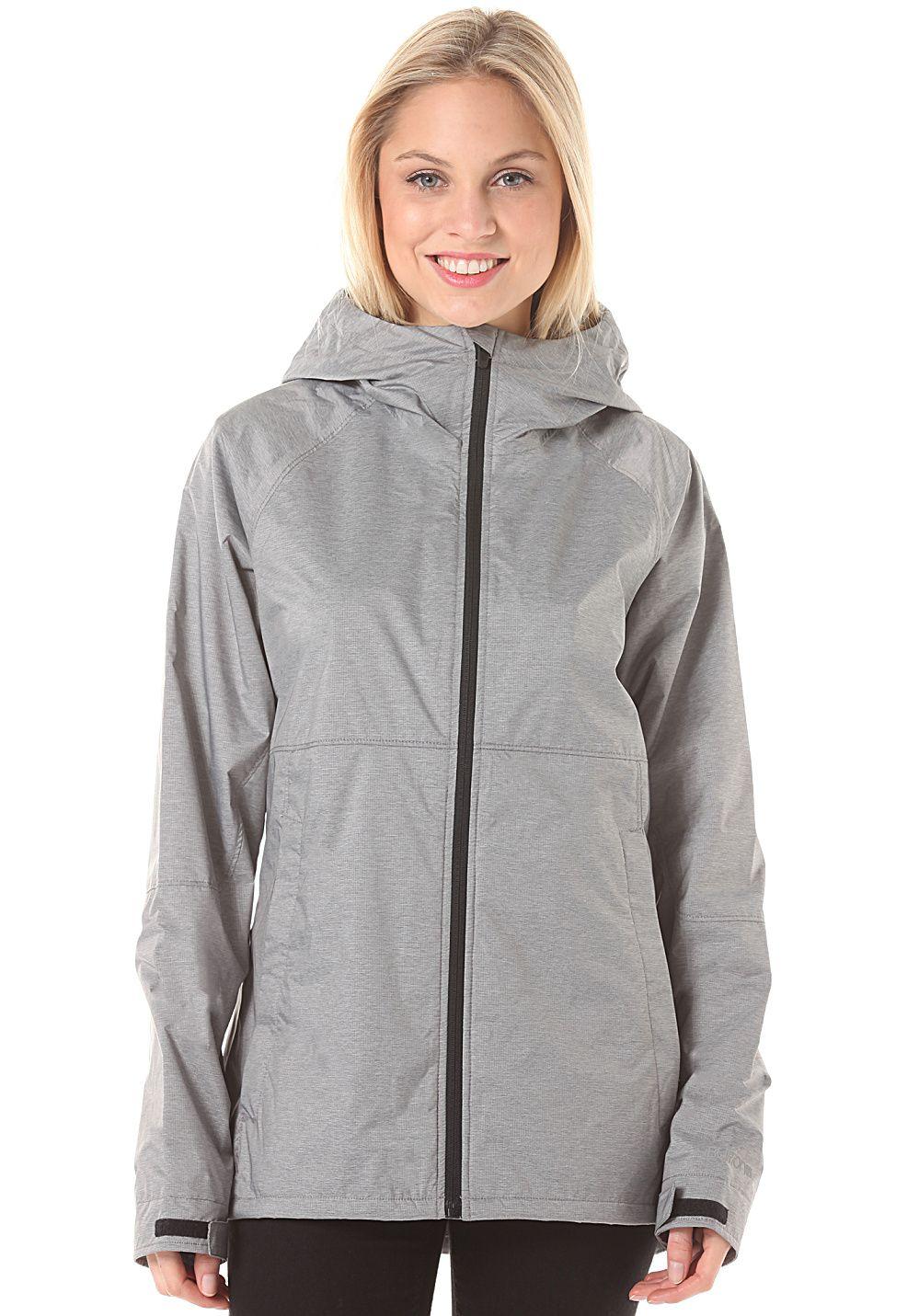 Burton Berkley Hooded Jacket for Women Grey Jack met
