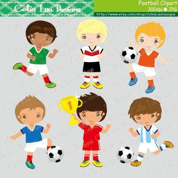 Football Party Clipart 2 Football Digital Clipart Soccer