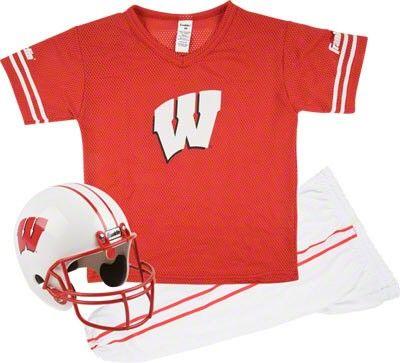 9c4b2ba5 Wisconsin Badgers Kids/Youth Football Helmet and Uniform Set | Gift ...