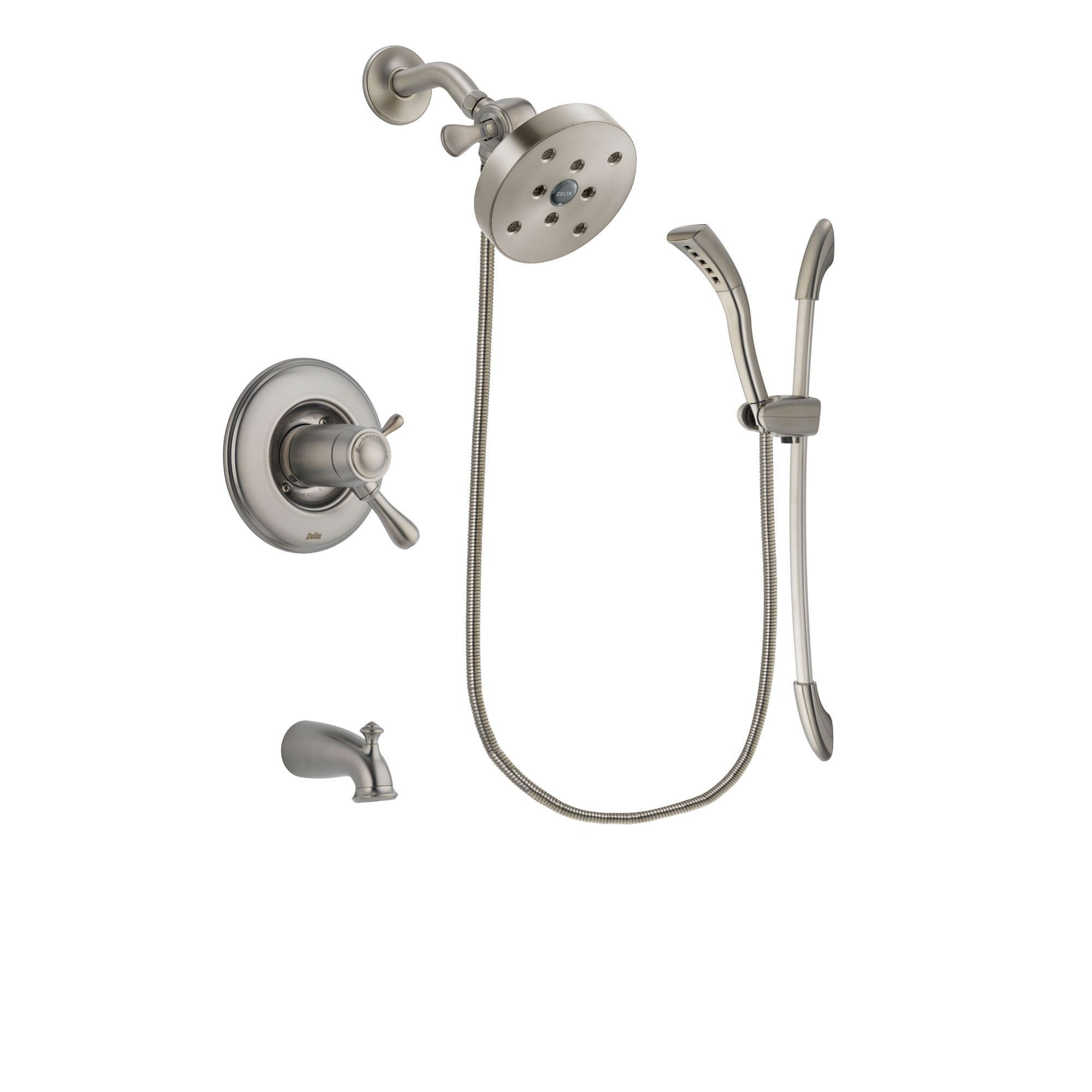 Delta Leland Stainless Steel Finish Thermostatic Tub and Shower ...