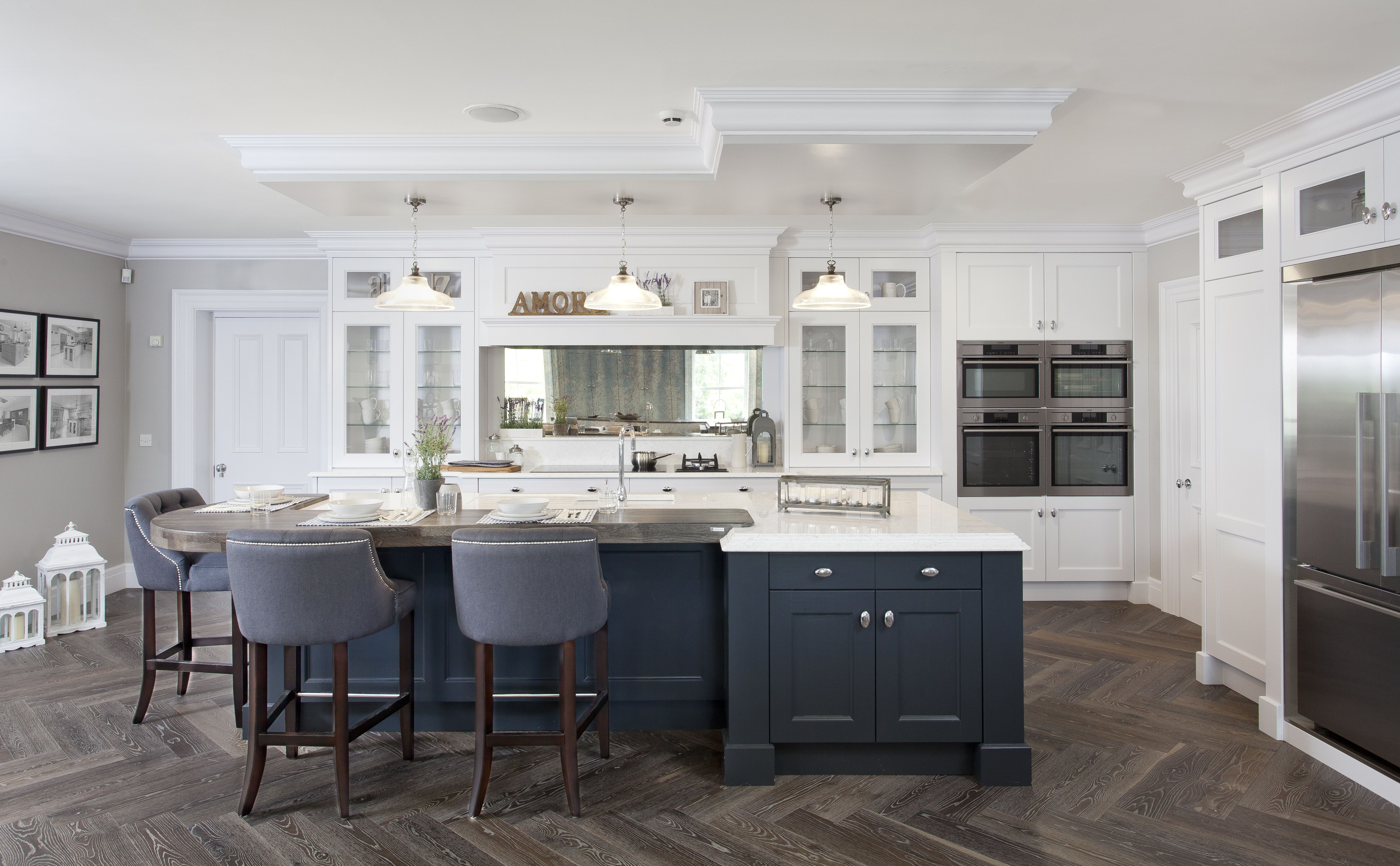 Our Award Winning showroom has full size kitchens to show ...