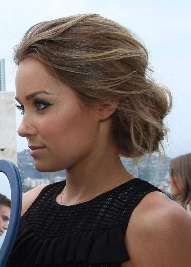 Lauren Conrad Crispy Coupe More Updosloose Hair Pinterest