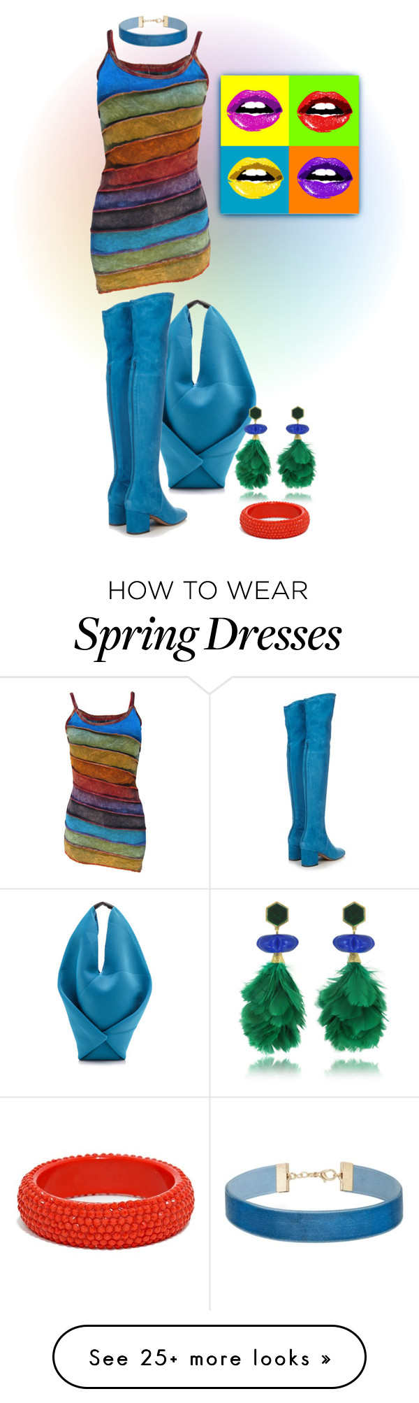 """""""Bold... Rainbow"""" by marvy1 on Polyvore featuring MM6 Maison Margiela, Valentino, Tory Burch and Miss Selfridge"""