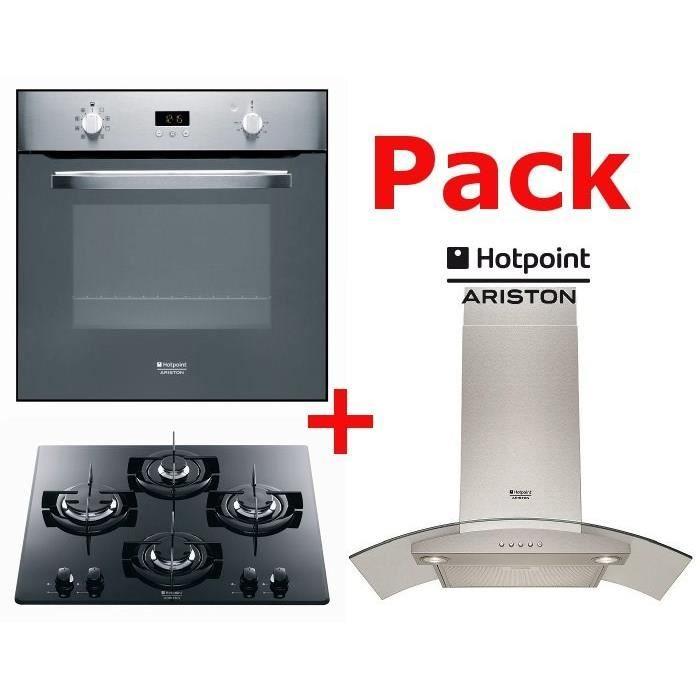 lot appareil cuisson pack cuisson hotpoint : four + table gaz +