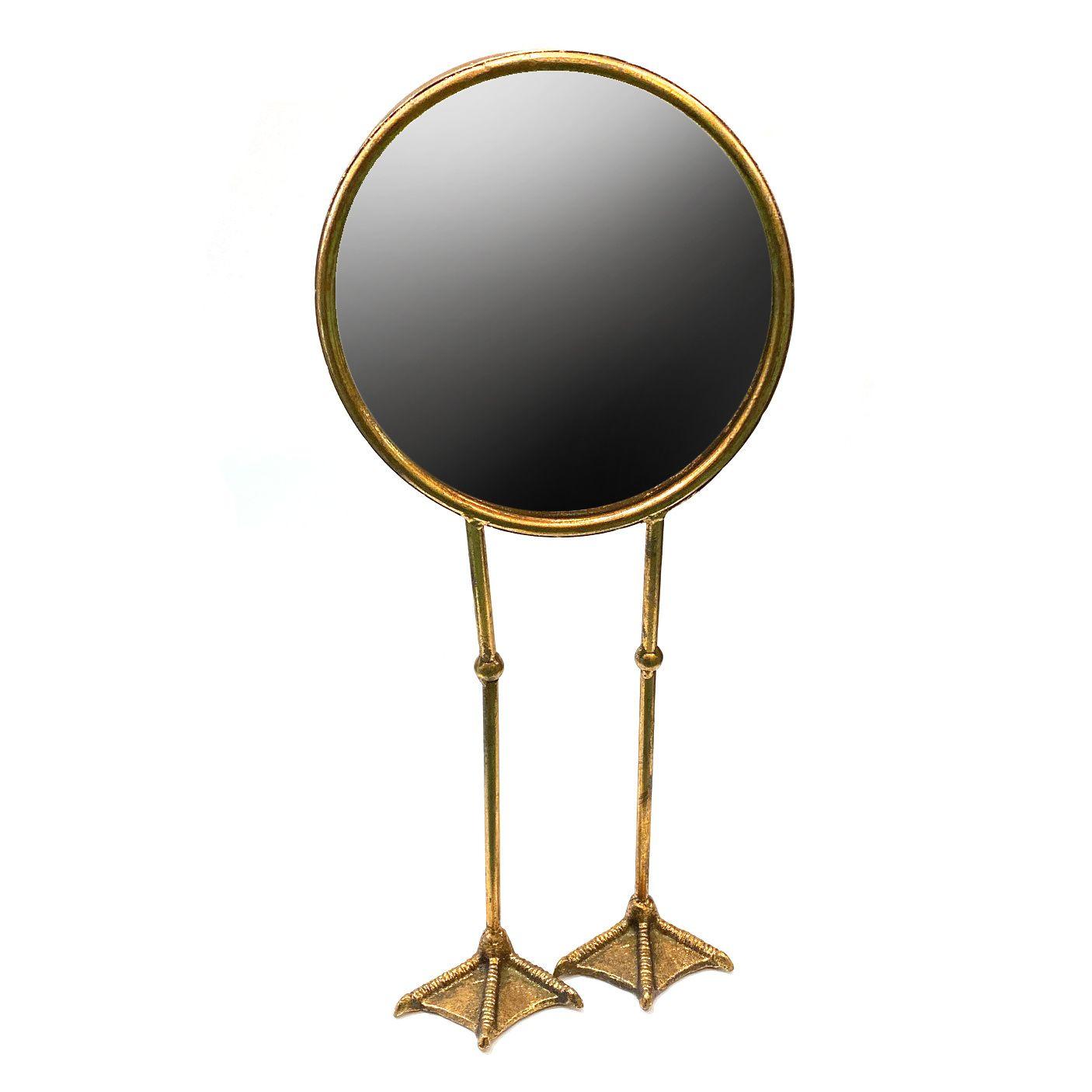 Gouden Spiegel Op Vogelpoten Spiegel Gouden Spiegels Goud