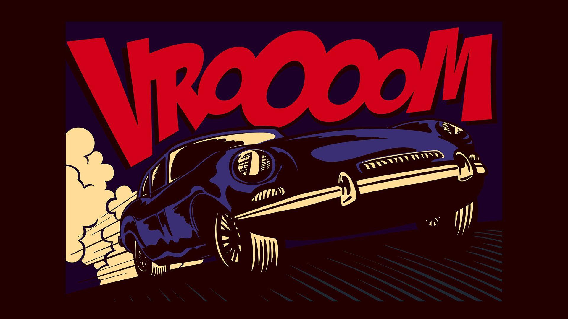 Pop Art Car Vroooom 1920x1080 Pop Art Car Pop Art Pop Art Comic