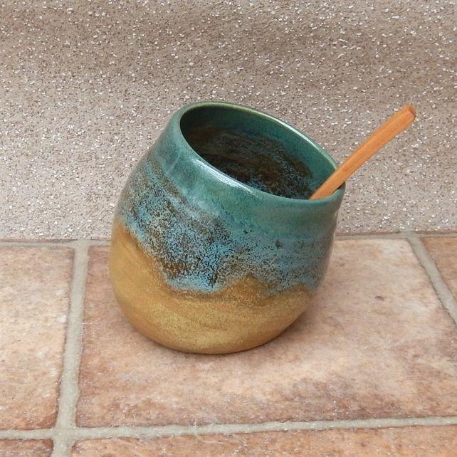 Salt pig or cellar hand thrown stoneware pottery handmade ceramic wheelthrown & Salt pig or cellar hand thrown stoneware pottery handmade ceramic ...