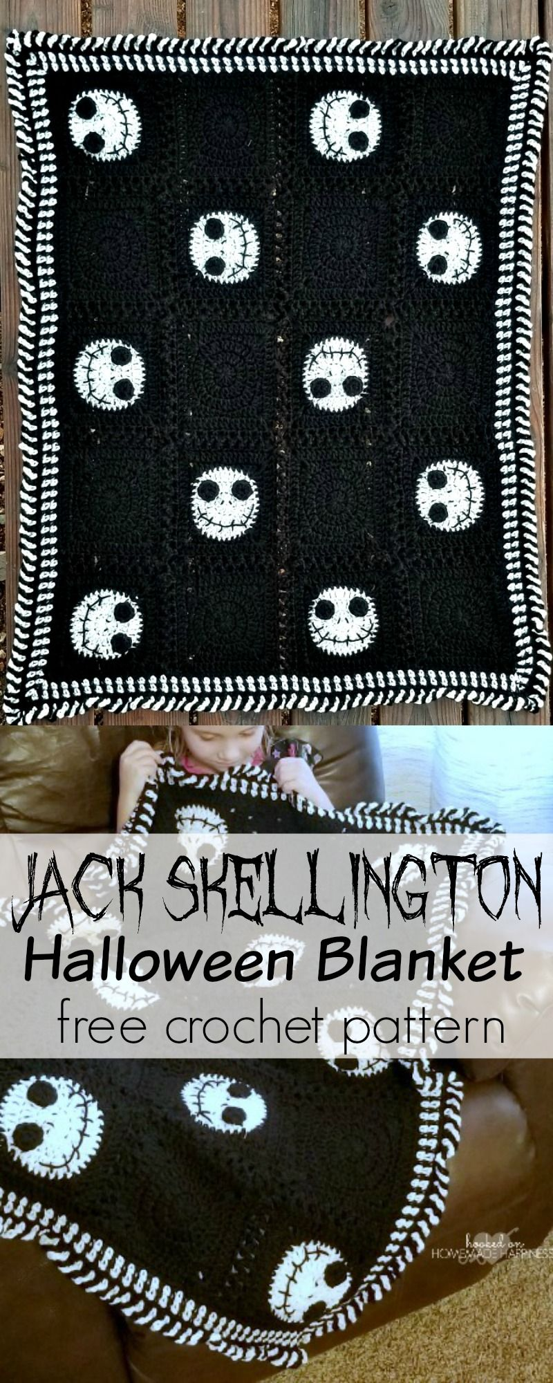 Halloween Crochet Blanket | Crochet/ Knitting | Pinterest | Holiday ...