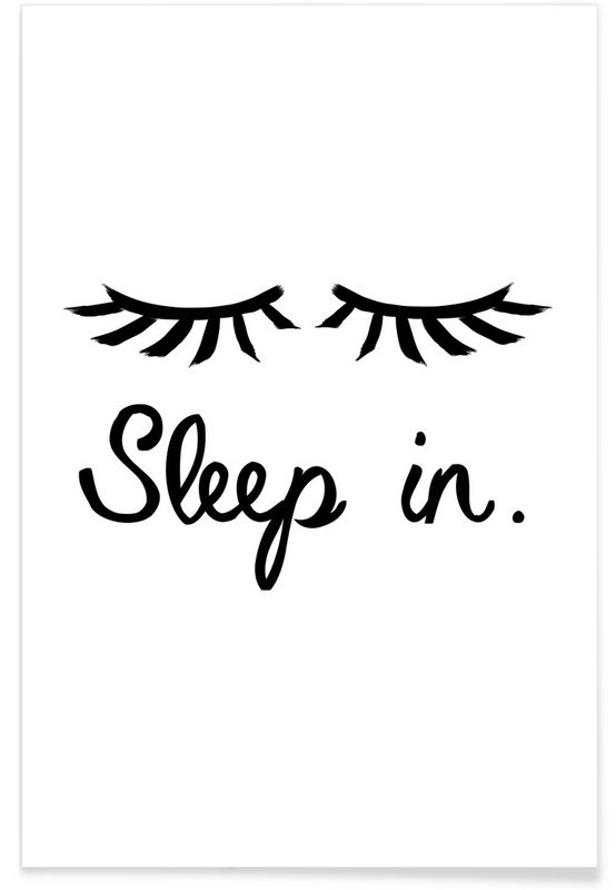 Sleep In A Typography Art Print For Your Bedroom Interior
