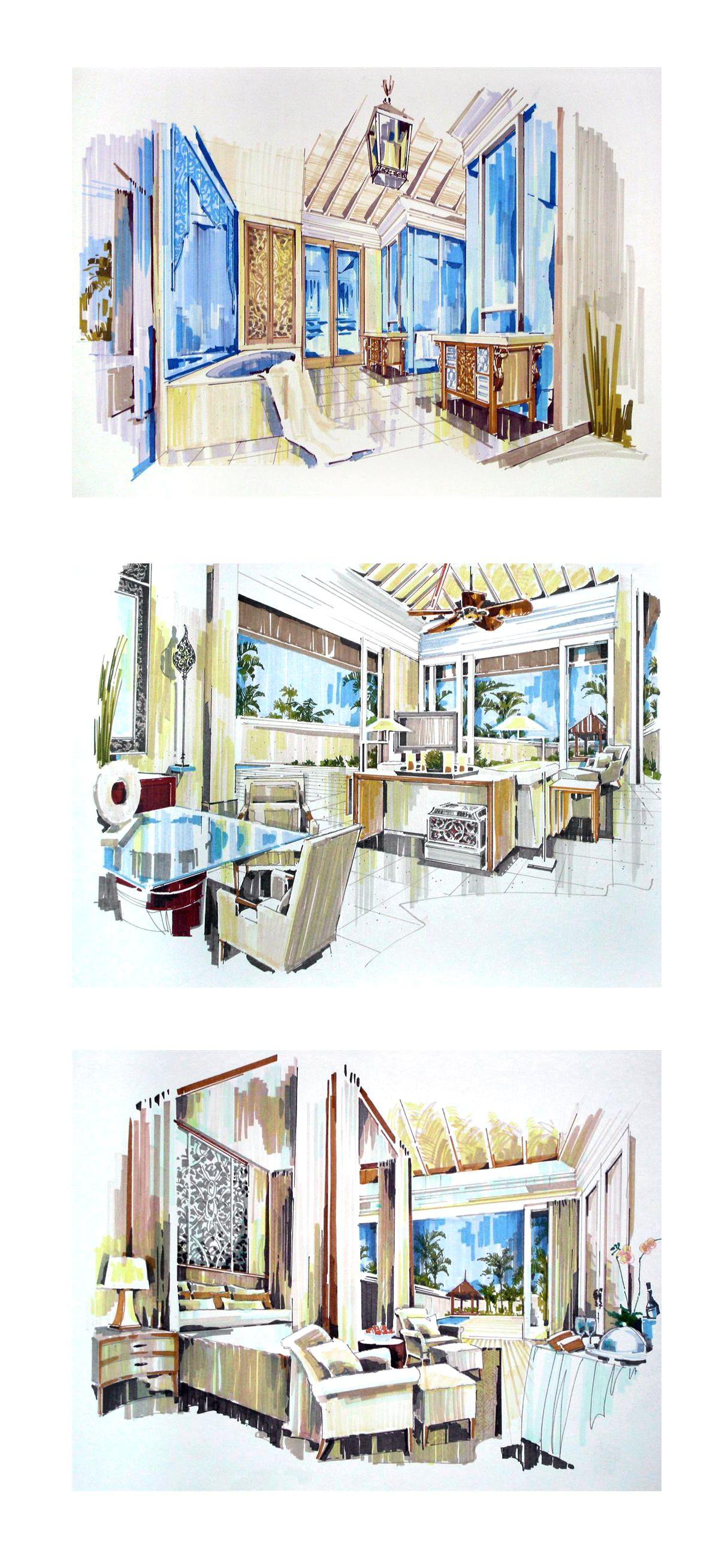 Interior design renderings designer unknown