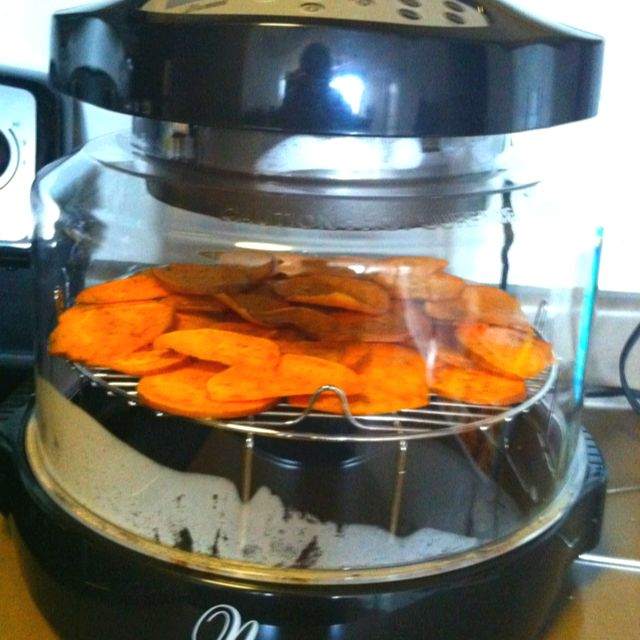 Sweet Potato Chips In The Nuwave Oven Nuwave Oven Recipes Convection Oven Recipes Halogen Oven Recipes
