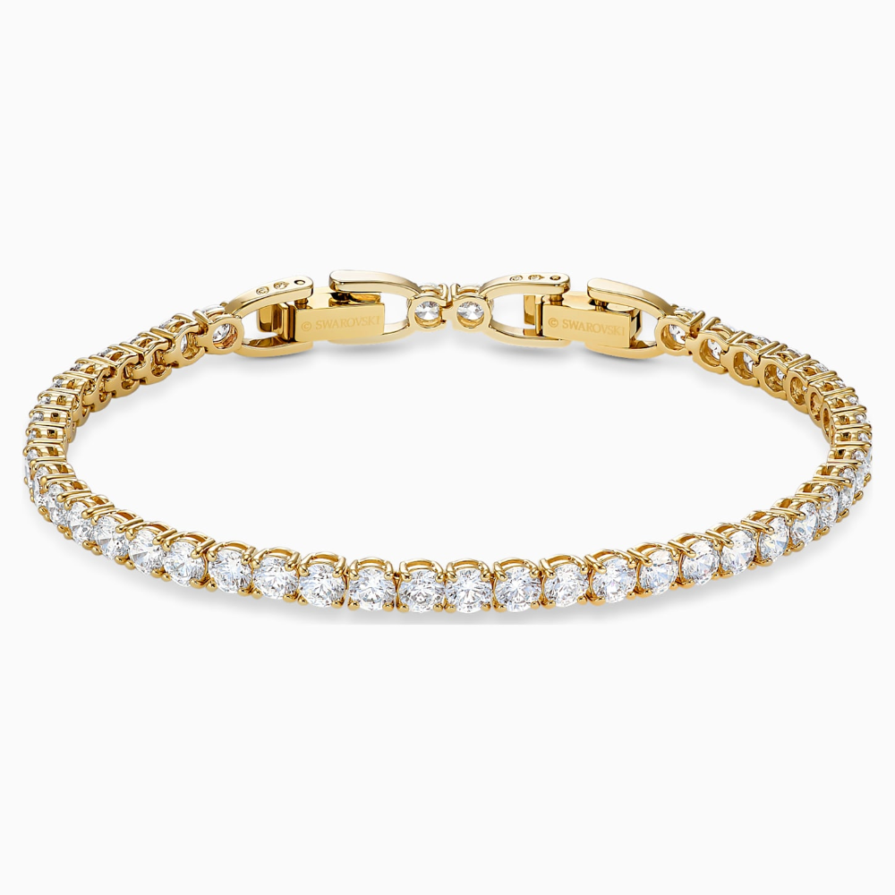 Tennis Deluxe Bracelet White Gold Tone Plated By Swarovski In 2020 Swarovski Bracelet Swarovski Crystal Bracelet Swarovski Jewelry