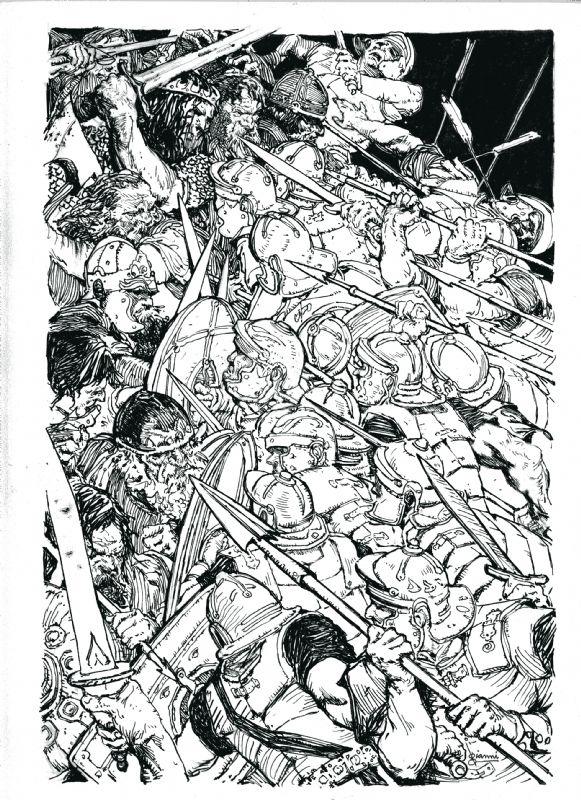 Gary Gianni Bran Mak Morn illustration Comic Art