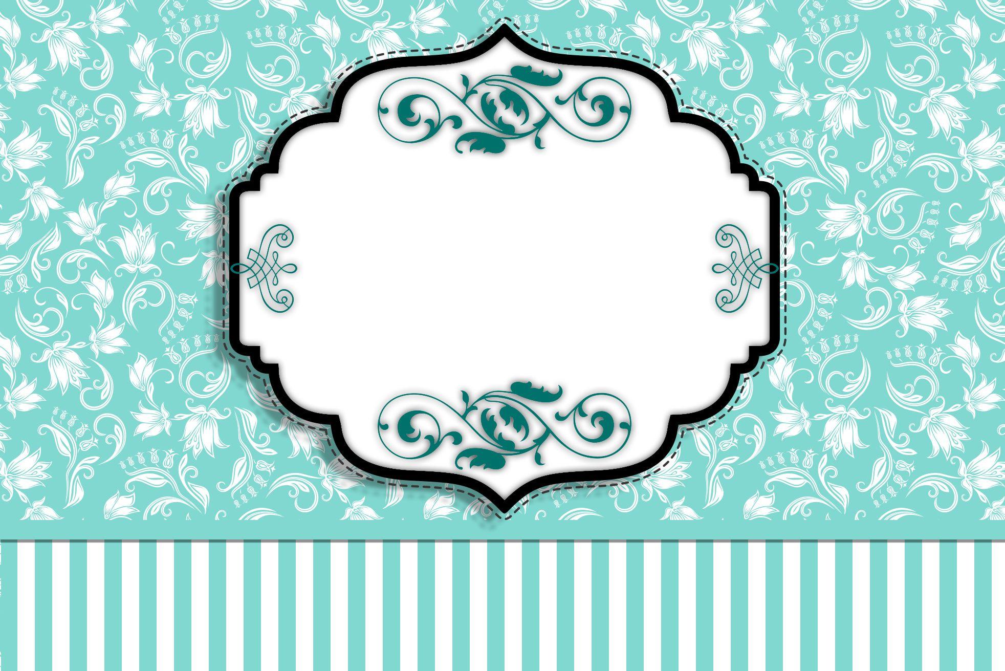 Kit Completo Azul Tiffany Floral e Listras!   Kit s para Festas ... cf8fec236c