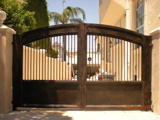 Custom Wrought Iron Driveway Gate Terrace Outdoor