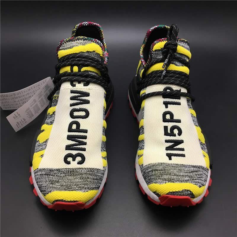 e2f5f137f4f7 Pharrell Williams x adidas Originals Hu NMD Trail SOLARHU White Yellow Mens  Womens Shoes