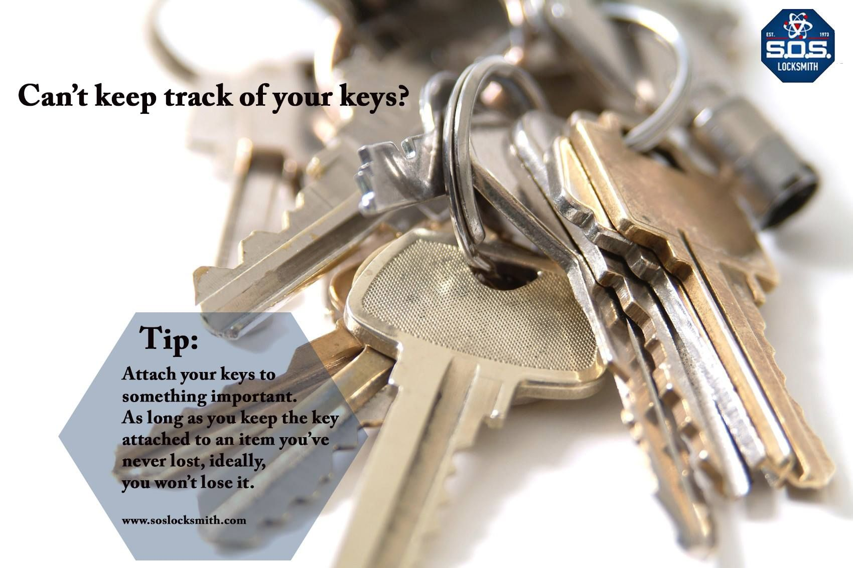 Locksmith tip of the week Keeping up with your keys.