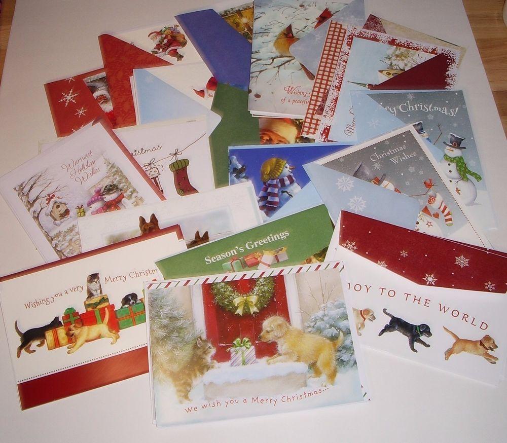 Christmas Cards Assorted 32 New Greetings Seasonal