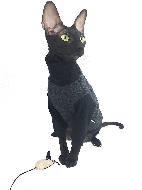 Kotomoda CAT WEAT Turtleneck maxi Pajamas Dark gray