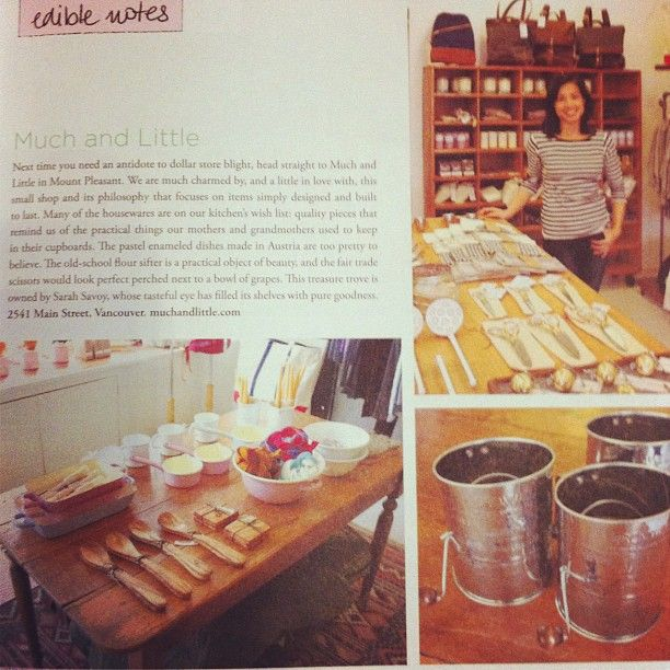 What a treat to be featured in the Winter issue of Edible Vancouver!