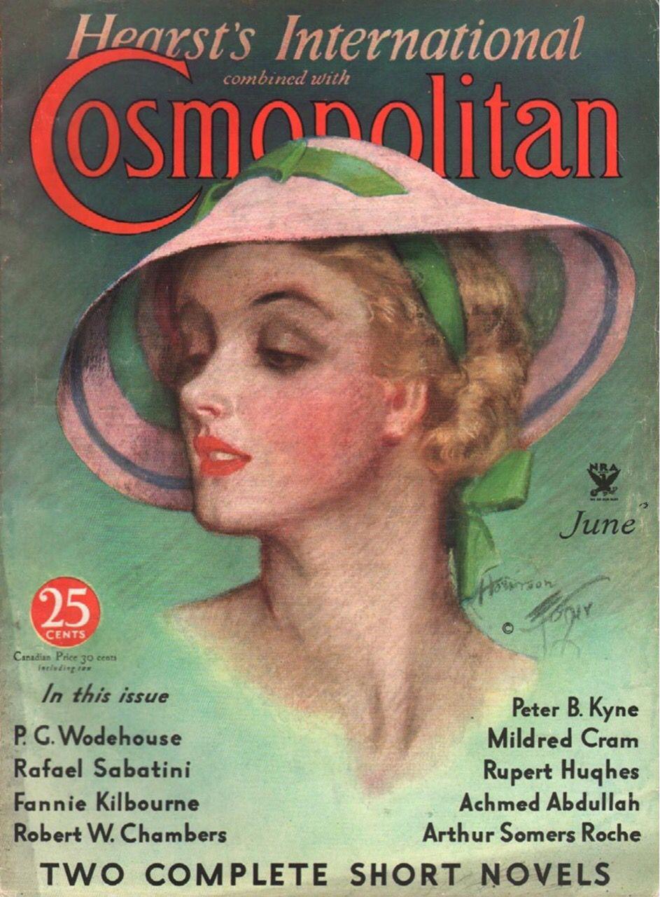 Cosmopolitan magazine june 1934 harrison fisher