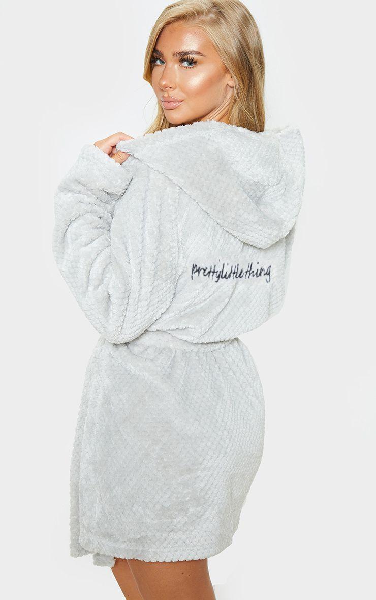Essentials Mid-Length Plush Robe Femme