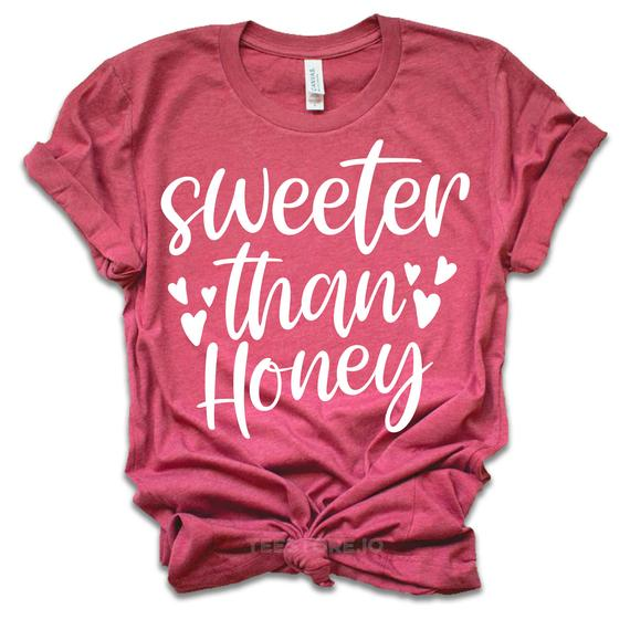 Sweeter Than Honey - Valentines Day Shirt - Valentines Day Gift - Funny Valentine - Valentine... :  Sweeter Than Honey – Valentines Day Shirt – Valentines Day Gift – Funny Valentine – Valentine Shirt – Gift For Her – Teacher Gift ,  #Day #Funny #gift #Honey #shirt   #day #funny #Gift #Honey #Shirt #Sweeter #Valentine #Valentines #valentinesdayshirts