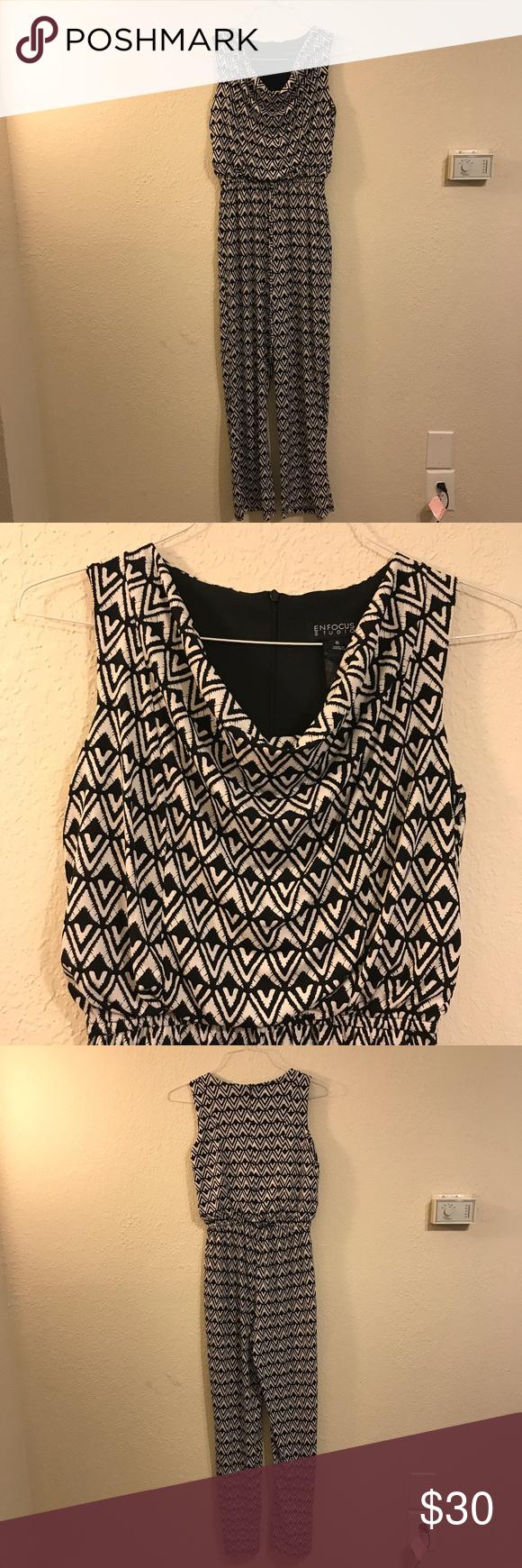 d1d72fa948a ENFOCUS STUDIO black and white jumpsuit. Lovey black and white jumpsuit size  6 wore it once. Like new. Enfocus Studio Pants Jumpsuits   Rompers