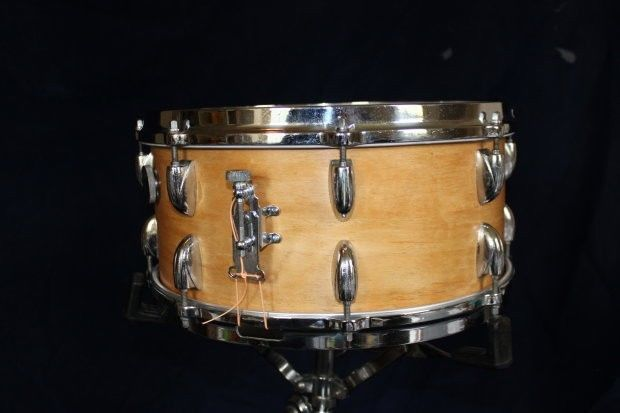 Gretsch 6.5x14 Round Badge era Snare Drum Natural Maple Floor Show model #Gretsch