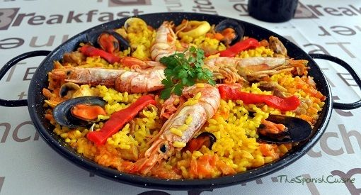 Recetas De Cocina Española Paella Valenciana | Cocina Una Autentica Receta De Paella Valenciana De Marisco Y