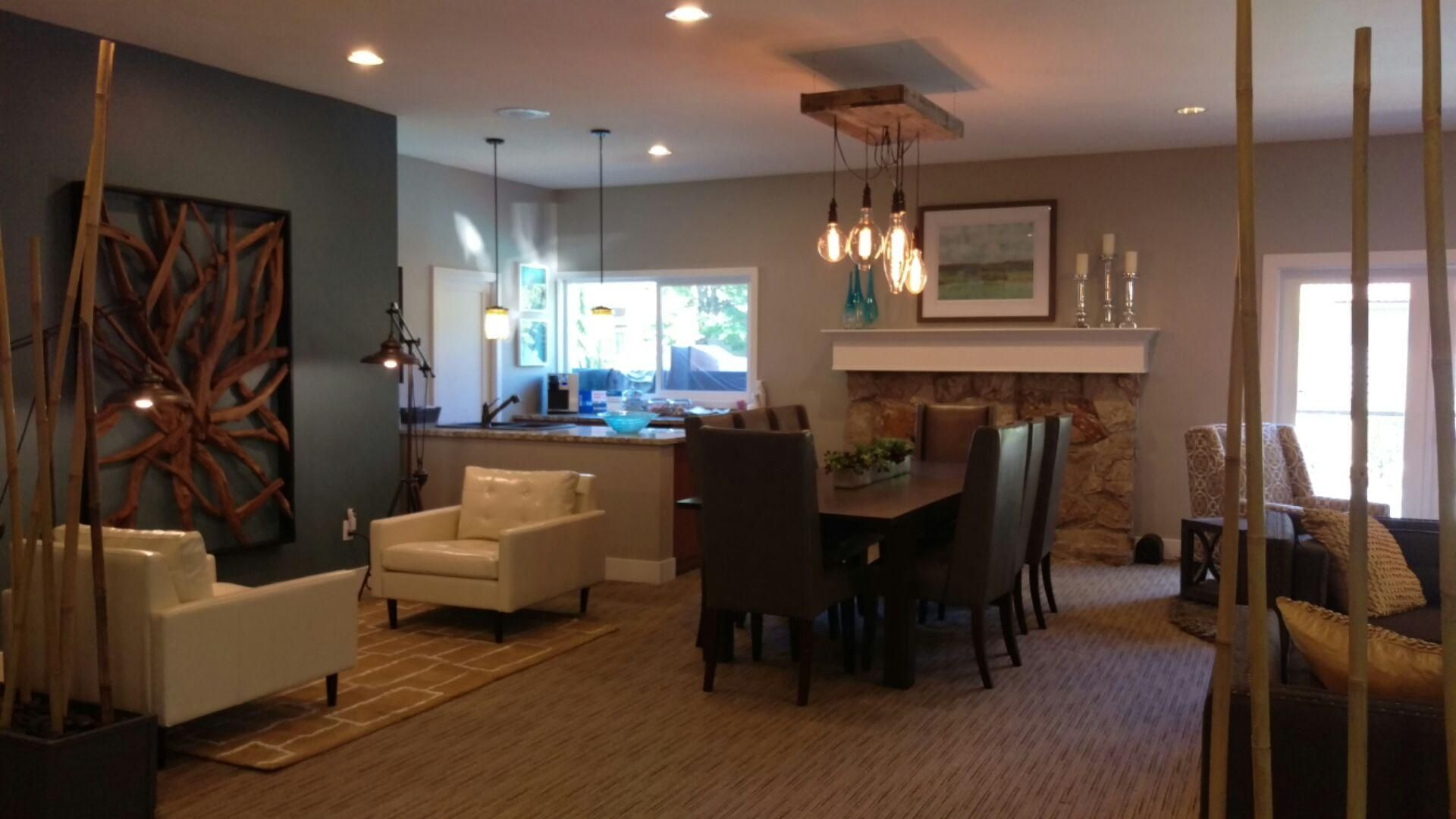 Hampton Greens in Bellevue with Visionart Seattle - a cozy apartment setting infused with a nature living lifestyle -- NPD