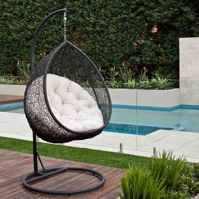 hanging egg chair outdoor rattan wicker bedroom pinterest rh pinterest com outdoor furniture hanging egg chair garden furniture hanging egg chair