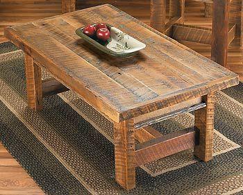 simple barn wood coffee table diy