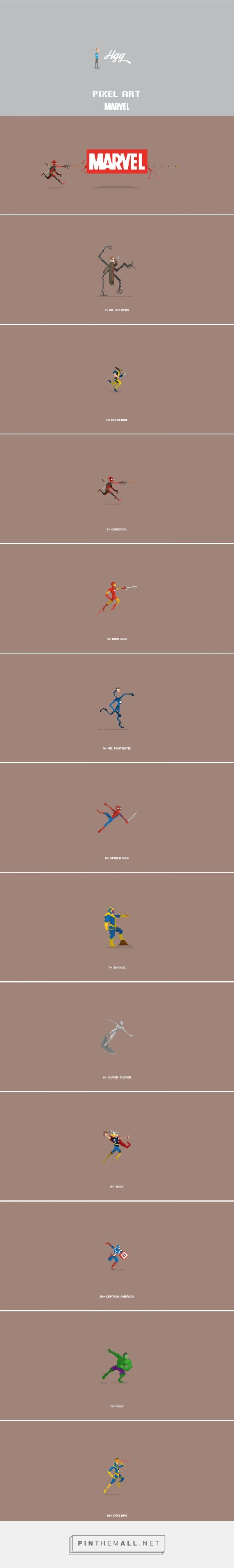 Pixel Art_Marvel Characters by Hgg