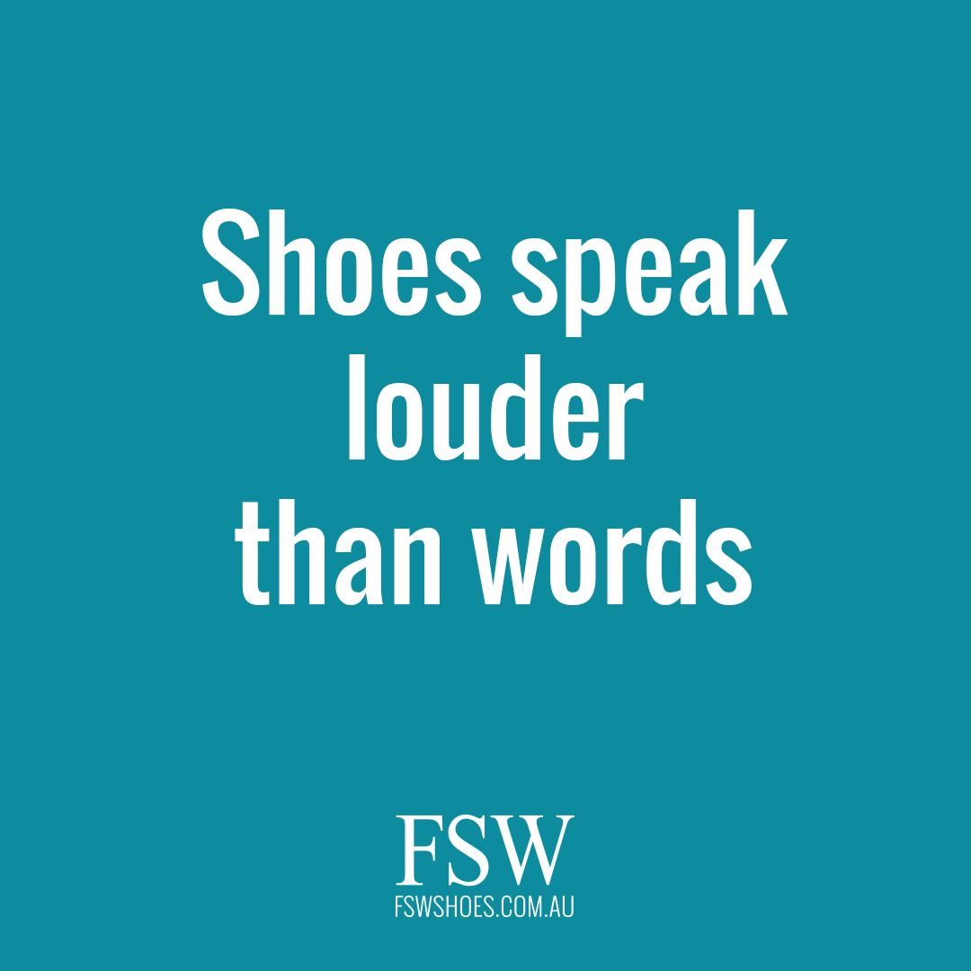 174f7ee9464 What better way to make a statement?   Quotes   Shoe warehouse, Shop ...