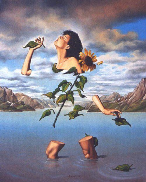 Artwork by Jose Roosevelt #oils #oilpainting #surrealart #womanportrait #surreal