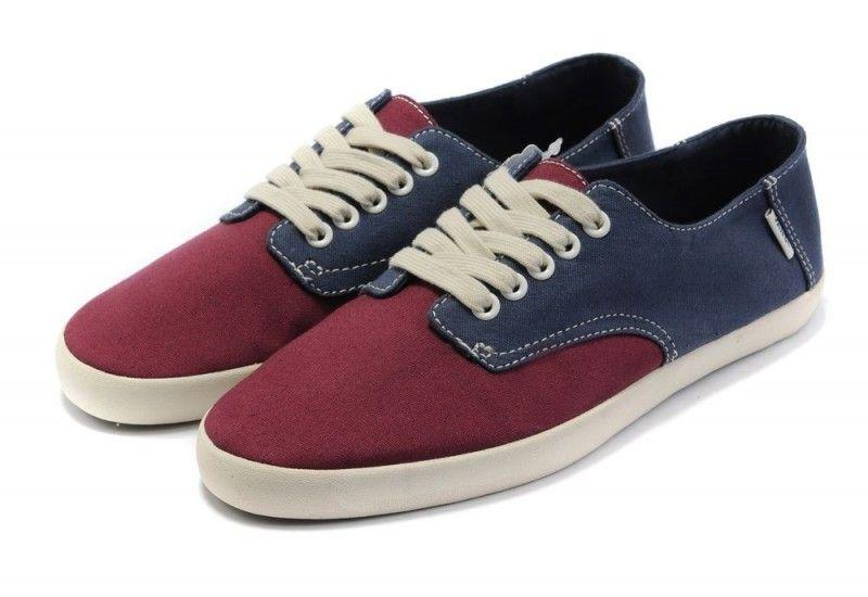 13ad78b93198 Vans Shoes Burgundy Navy Blue Rata Vulc Mens Casual Canvas Sneakers ...