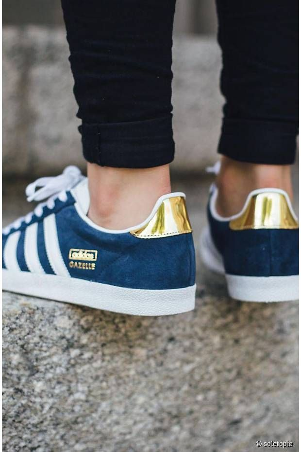 Adidas Gazelle Blue & Gold | Fits | Pinterest | Chaussure