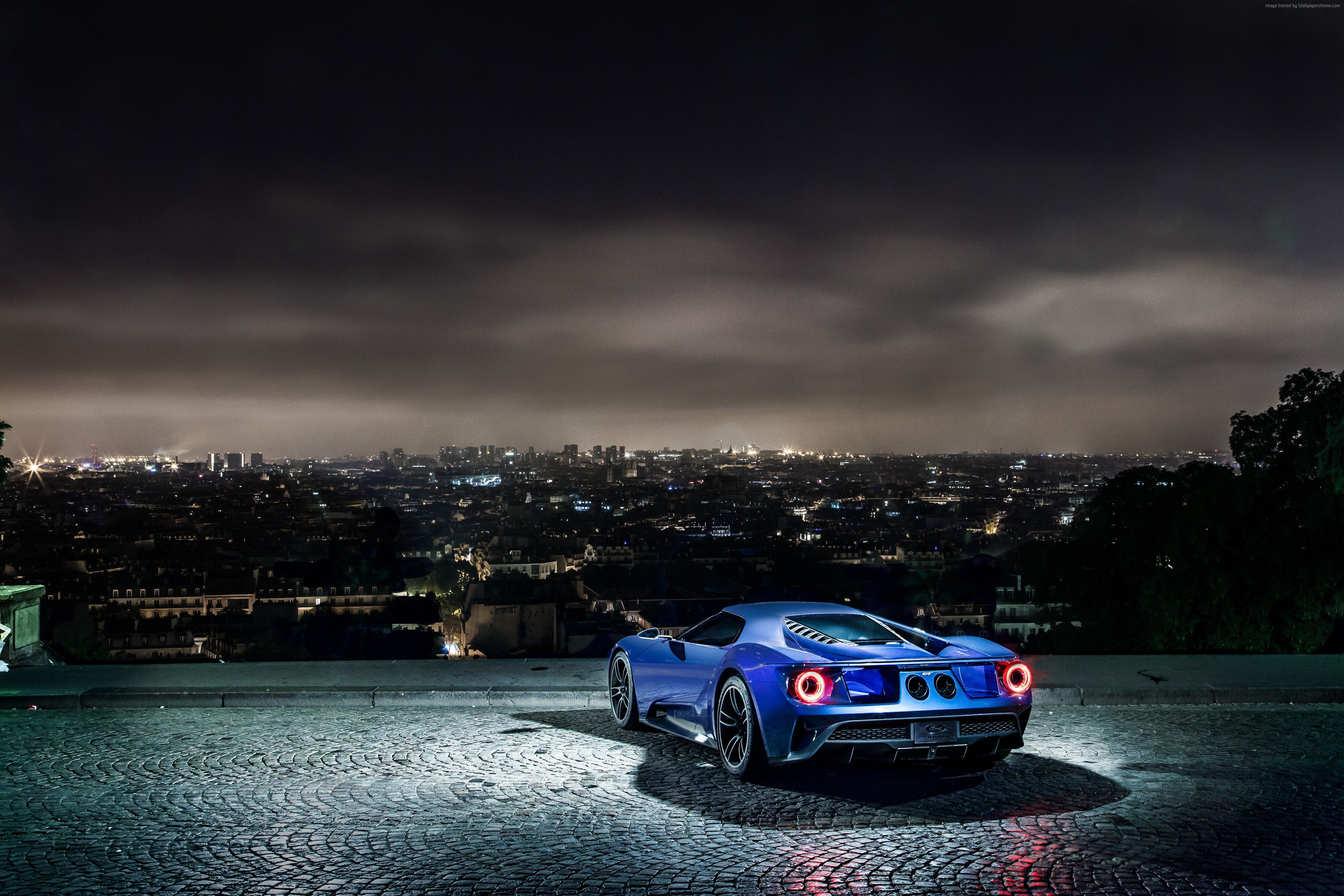 Ford Gt Supercars American Cars 2017 4k Uhd Widescreen: Cool Ford Gt With Wonderful Background 4k Wallpaper