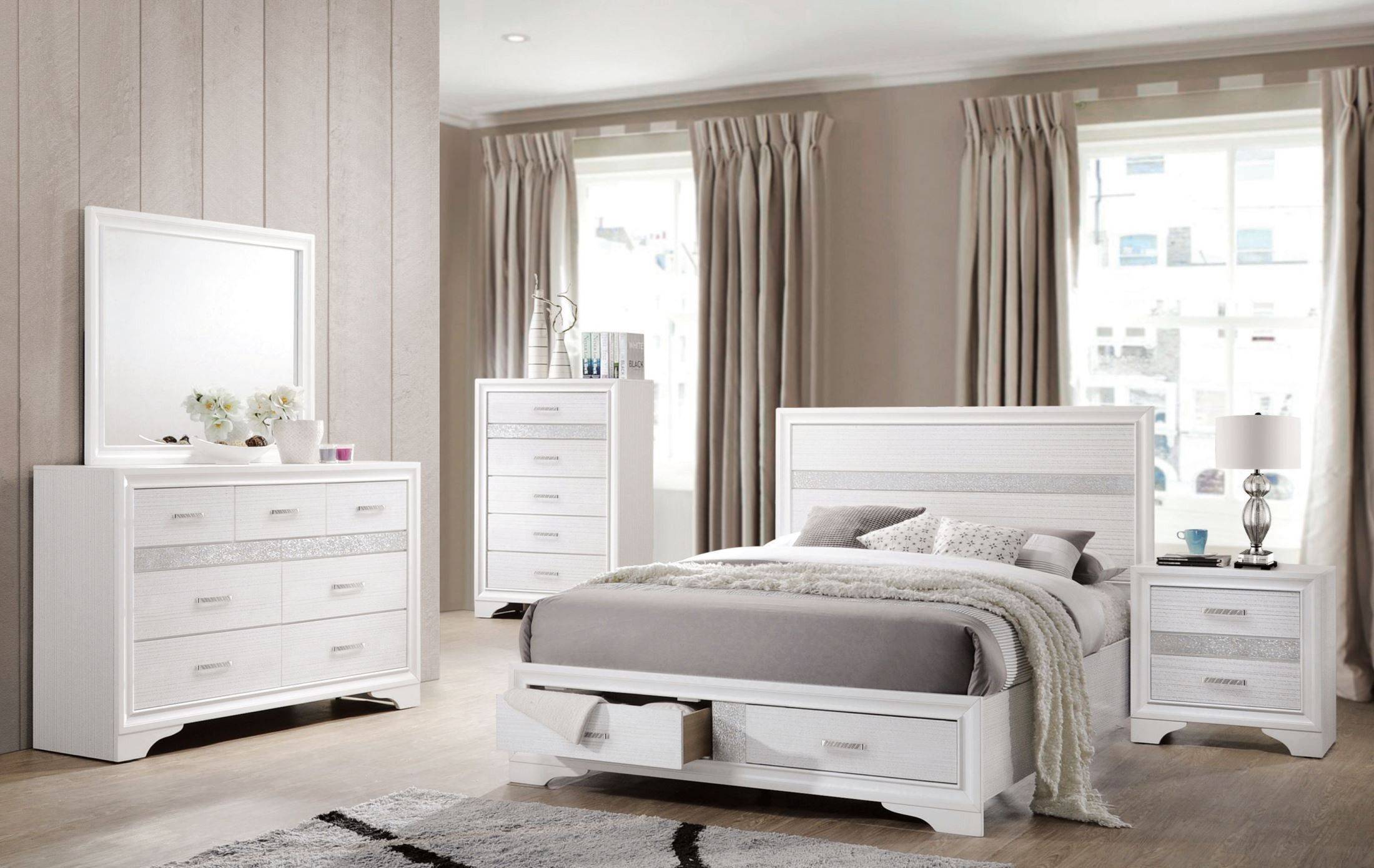 Miranda White Storage Platform Bedroom Set. Miranda White Storage Platform Bedroom Set   Furniture   Pinterest