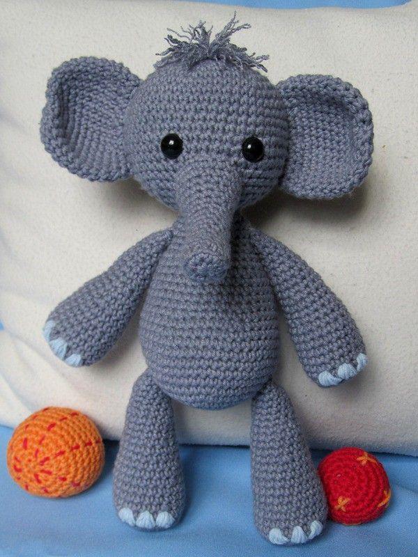 Elefant Bert Häkelanleitung Handarbeiten Pinterest Elefanten